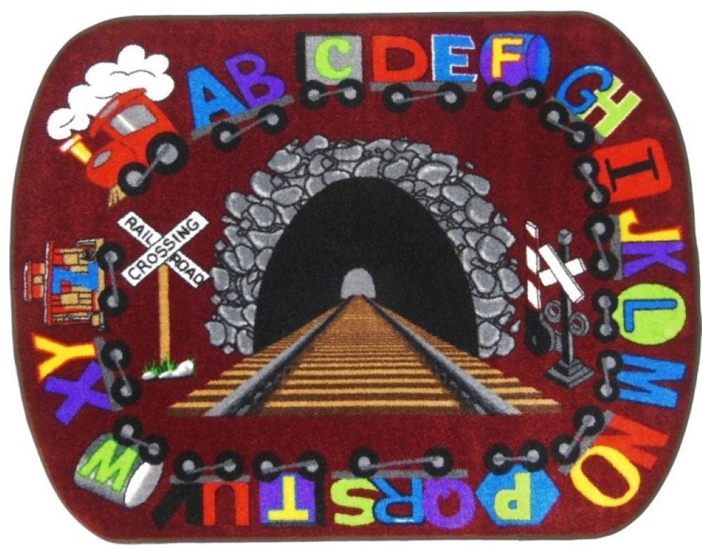 Alphabet Express Train Rug