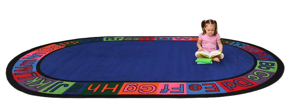 Alpha Circle Time ABC Rug With BRIGHT Colors - KidCarpet.com