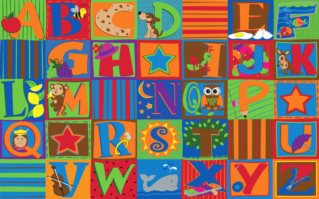Letter Seating Rug - KidCarpet.com