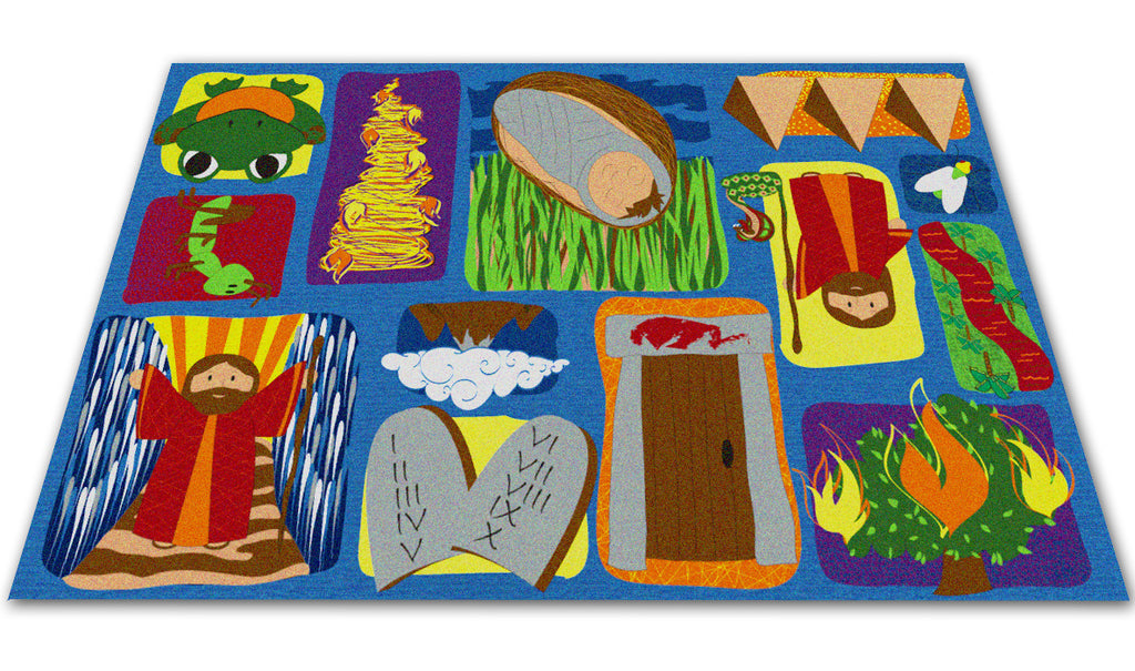 Moses Sunday School Rug - KidCarpet.com