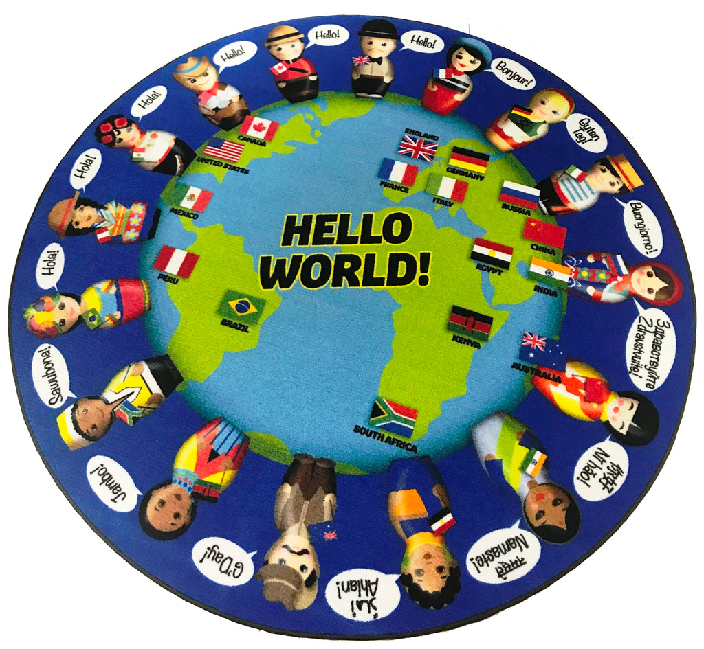 World Greeting Children's Rug - KidCarpet.com