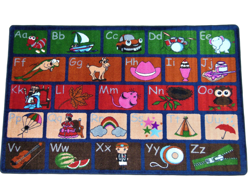REVERSIBLE Country Roads / ABC Picture Phonics Rug - KidCarpet.com