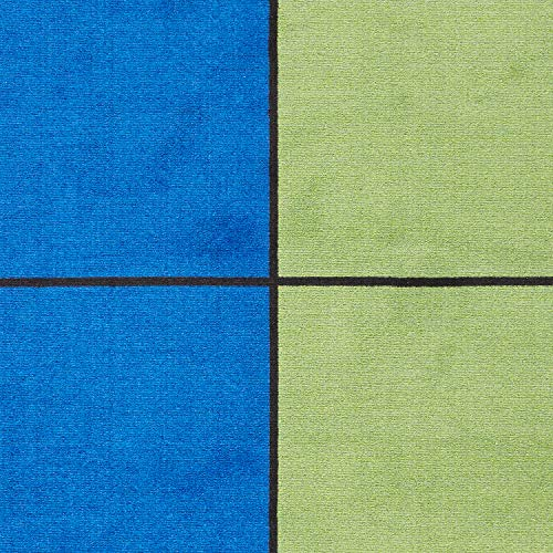 Blocks Seating Rug MULTI With 30 Squares - KidCarpet.com