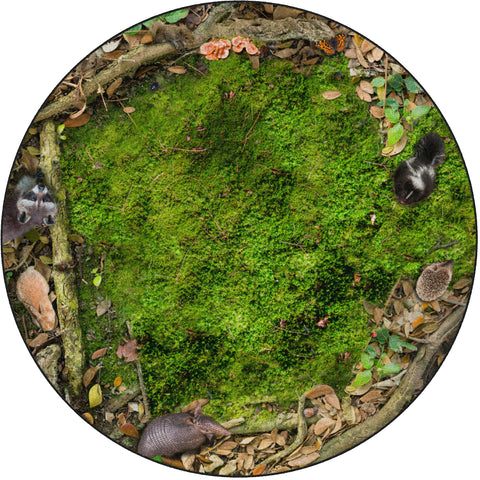 Forest Floor Seating Photo Rug