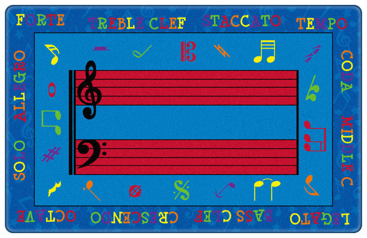 Fun With Music Rug - KidCarpet.com