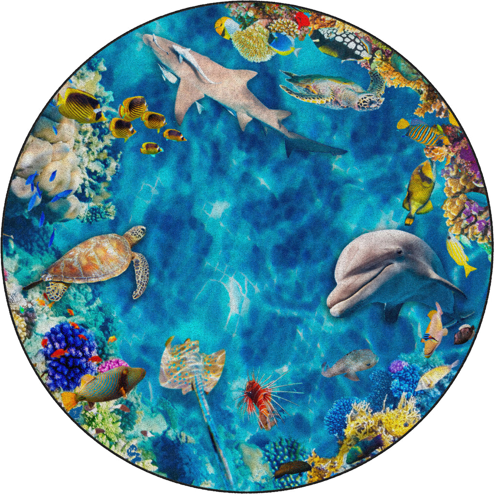 Into the Sea Photo Rug - KidCarpet.com
