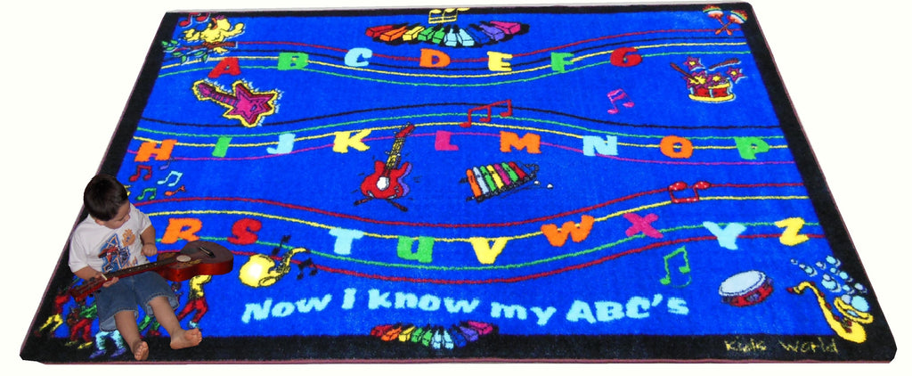 ABC Musical Song Preschool Rug - KidCarpet.com