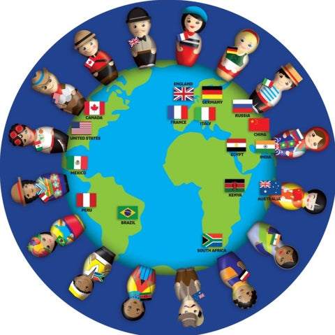People Around the World Kids Rug
