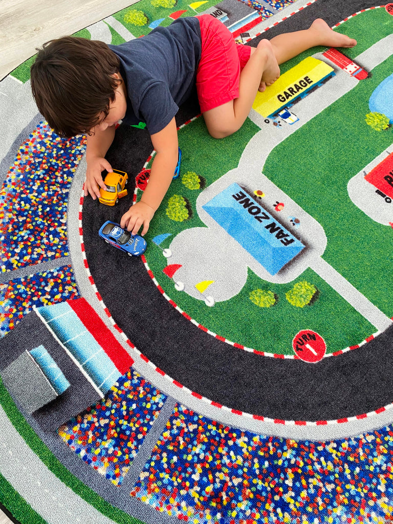 Race Car Rug - KidCarpet.com