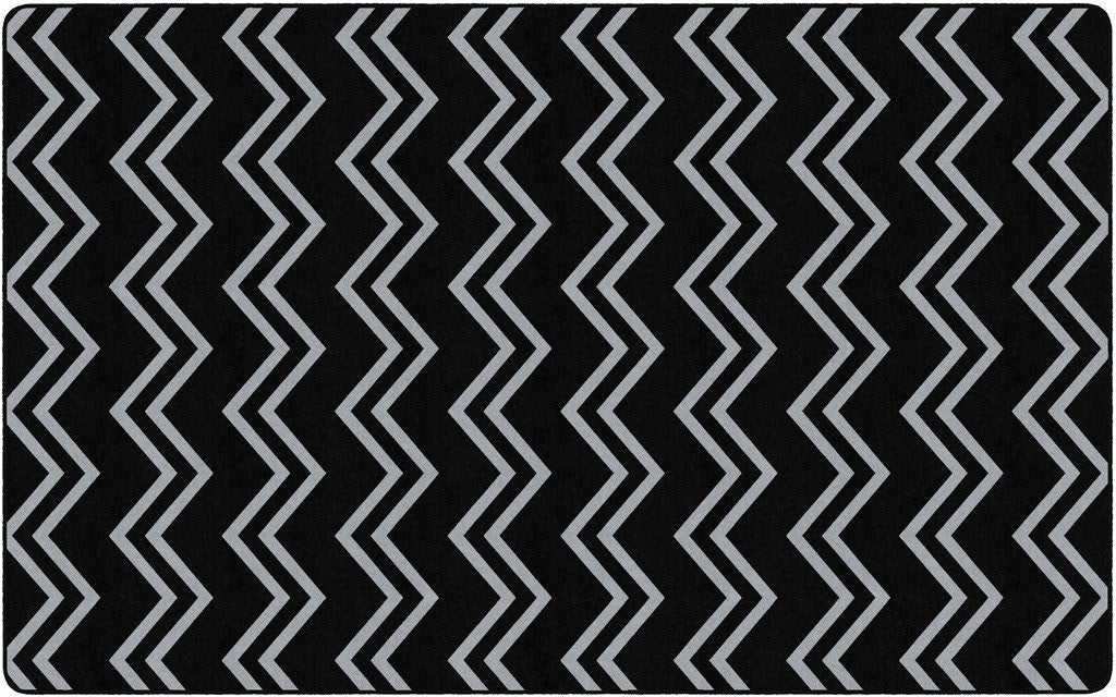 Picture of: Chevron Kids Rug Black And Grey Kidcarpet Com
