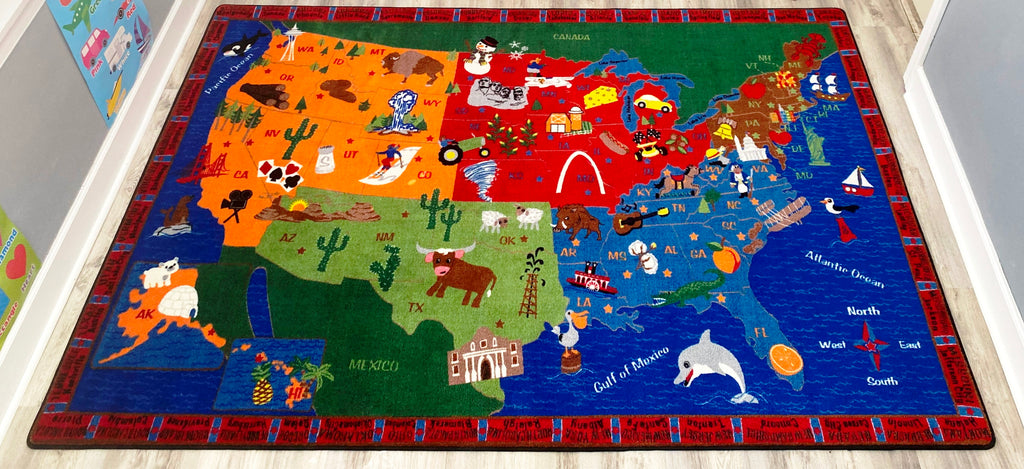 From Sea to Shining Sea - KidCarpet.com