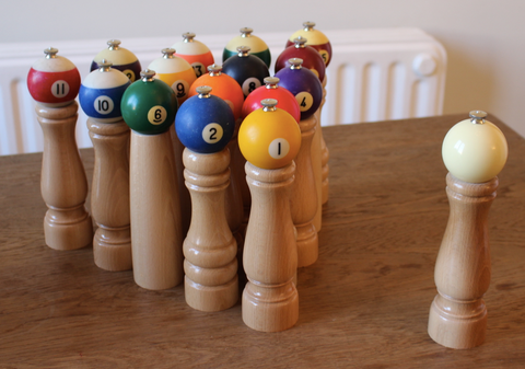 NEW Product : Pepper mil made with vintage Pool ball!