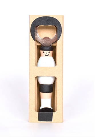 Kicker Bottle Opener - White/Black