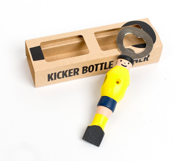 Kicker Bottle Opener - Yellow/Blue