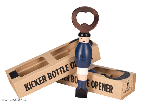 Kicker Bottle Opener - Blue/White