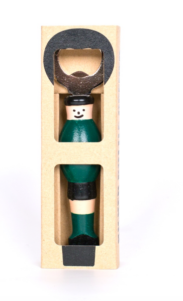Kicker Bottle Opener - Green/Black