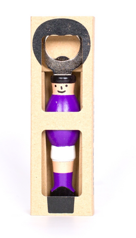 Kicker Bottle Opener - Purple/White