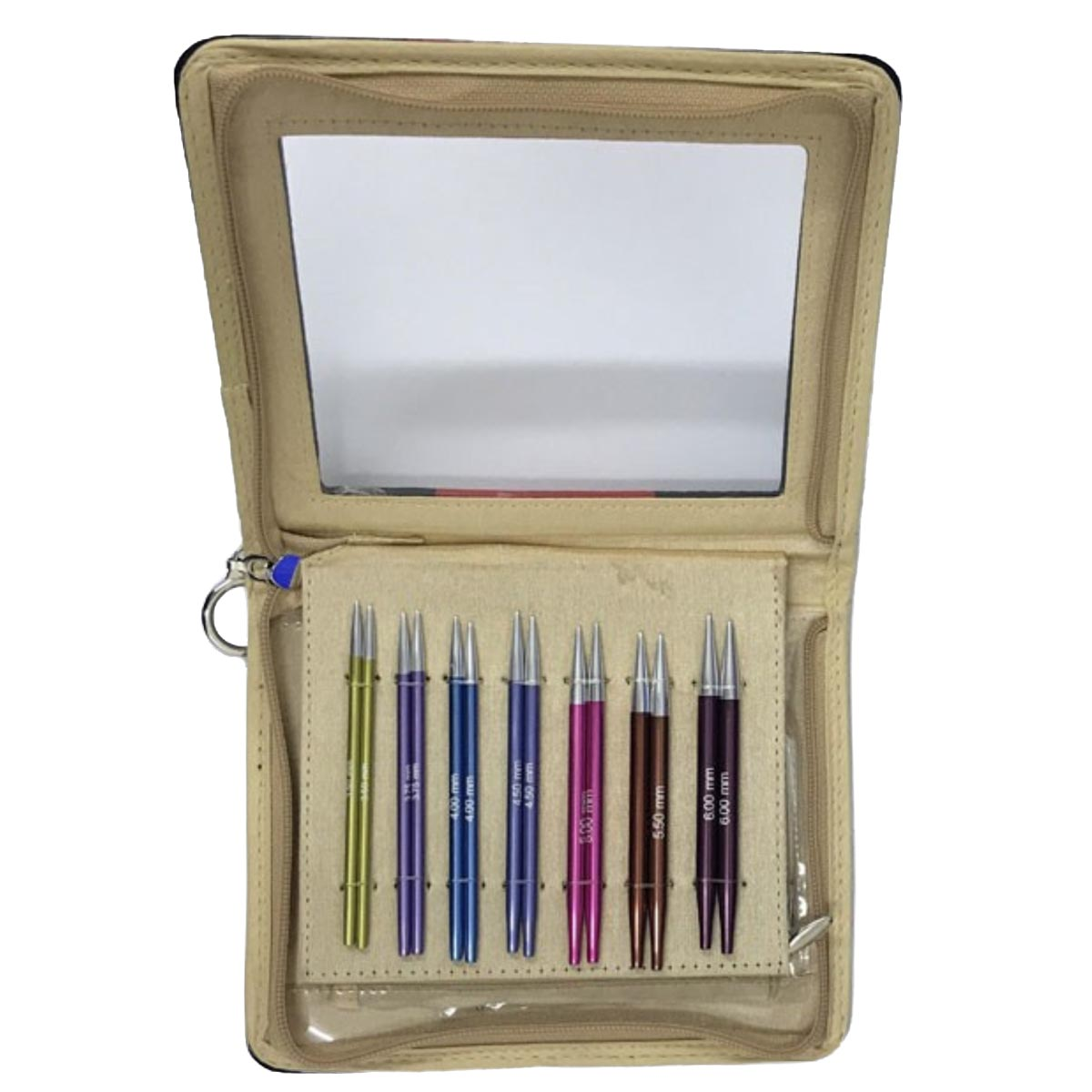 KnitPro 47410 ZING DELUXE Special Short 40cm Set of 7 Interchangeable Knitting Needles w/Cables & End Caps