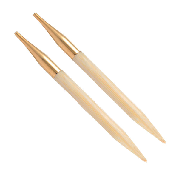Knit Pro - BAMBOO - Interchangeable Knitting Needles - 14K Gold Plate Connectors