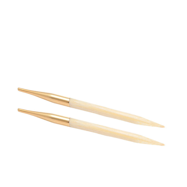 Knit Pro - BAMBOO DELUXE - Interchangeable Knitting Needles - Deluxe Set 14K Gold Plate Connectors
