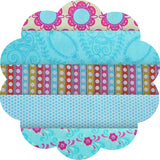 "FLOWER CHILD AQUA/BLUE #2 - 20 Charm Squares 5"" x 5"""