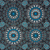 ALURA SEED DREAMING BLUE by Aboriginal Artist Karen Bird
