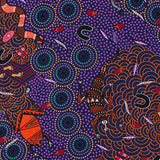 AROUND WATERHOLE PURPLE by Aboriginal Artist NAMBOOKA