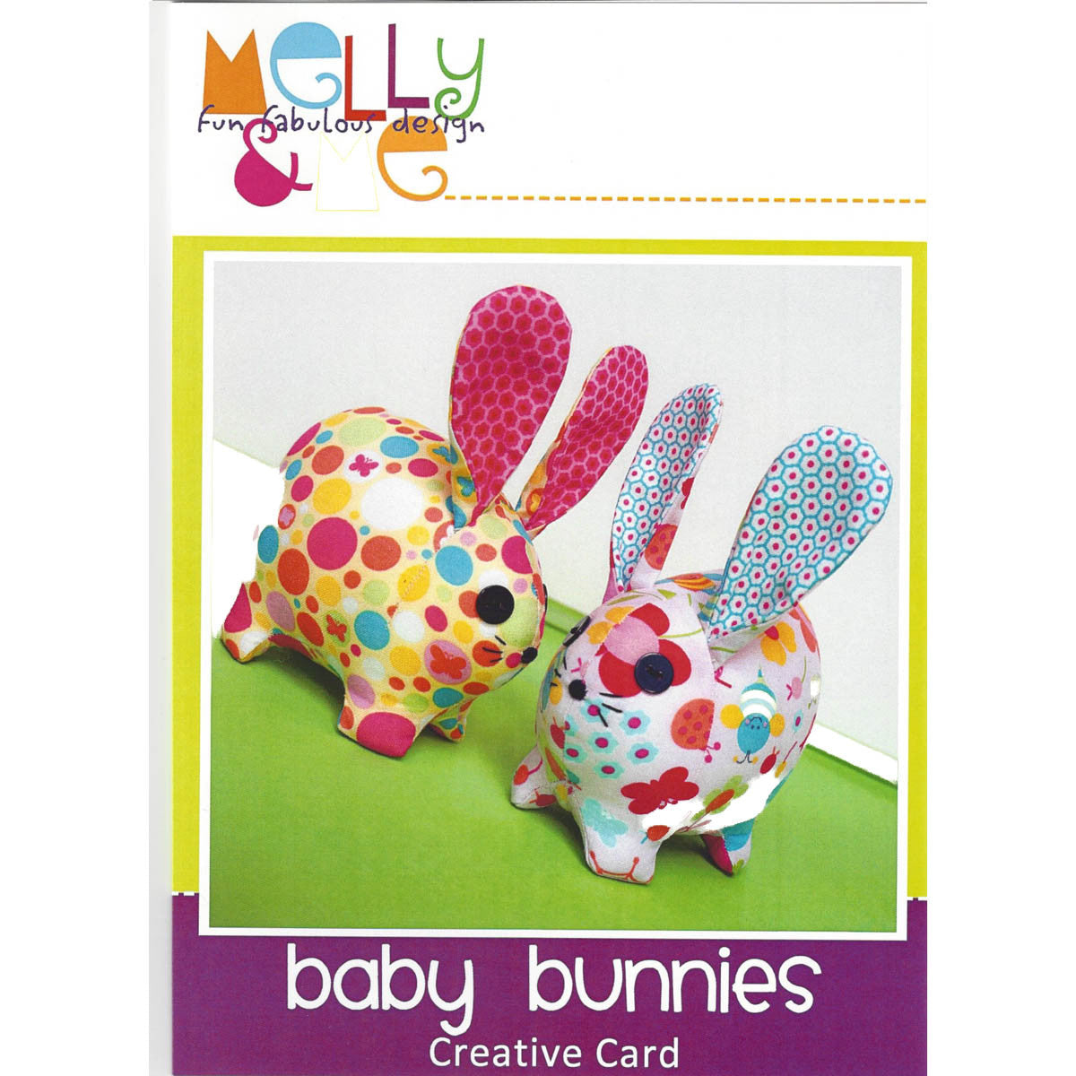 BABY BUNNIES - Creative Pattern Card - by Australian Designer Melanie McNeice for Melly & Me