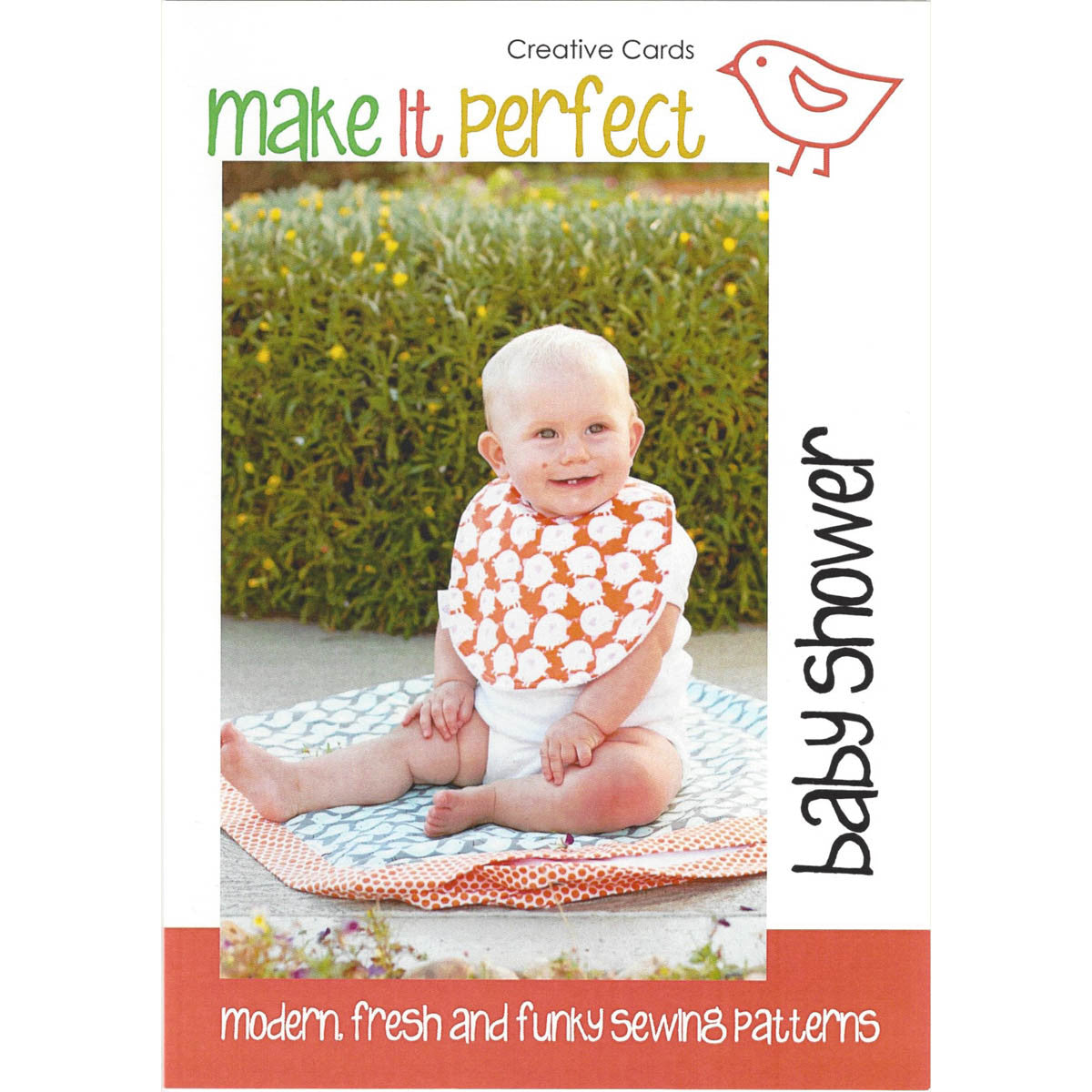 BABY SHOWER  Creative Cards Pattern for Bib and Blanket - Australian design by Make It Perfect