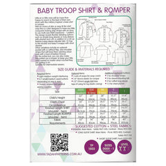 TADAH - BABY TROOP SHIRT & ROMPER -Sizes: 0000 (newborn) - 1
