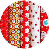 Ella Blue BACKYARD CIRCUS RED - Jelly Roll - 25 Strips 2.5 x 44""