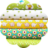 "BACKYARD CIRCUS GREEN - 20 Charm Squares 5"" x 5"""