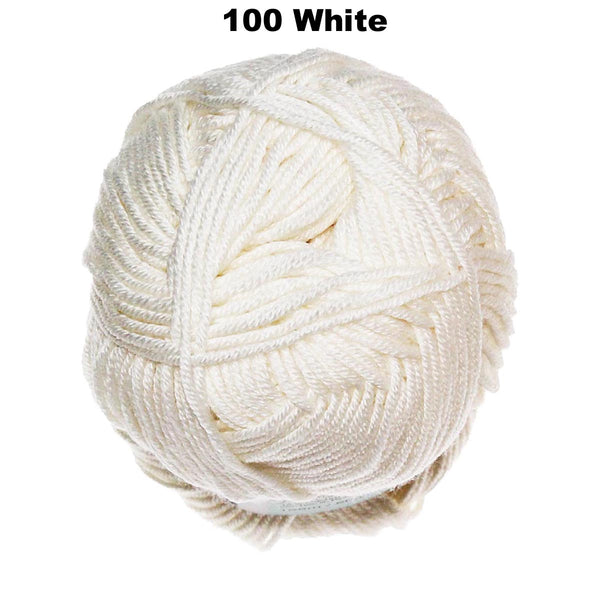 Baby Cashmerino - #100 WHITE - Baby/Sport 50g / 125m - Wool & Blends