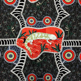 BLUE TONGUE BLACK by Aboriginal Artist NAMBOOKA