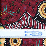 BLUE TONGUE BROWN by Aboriginal Artist NAMBOOKA