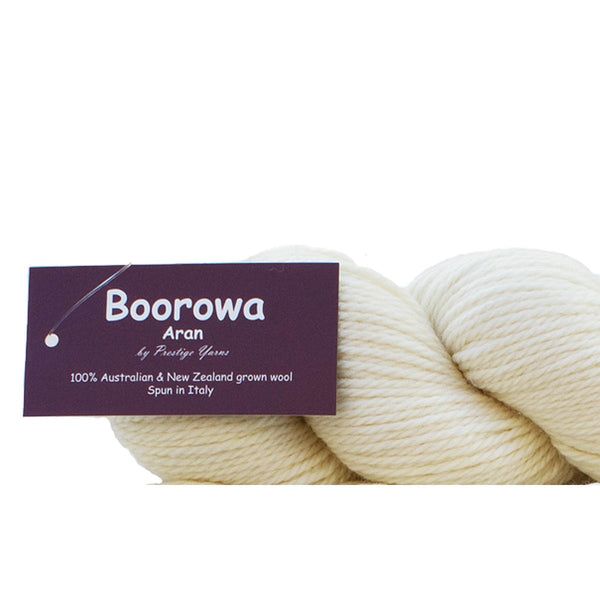 BOOROWA Undyed 100% Fine Merino- Fabulous for Dyeing 10ply/Aran/Worsted/100g