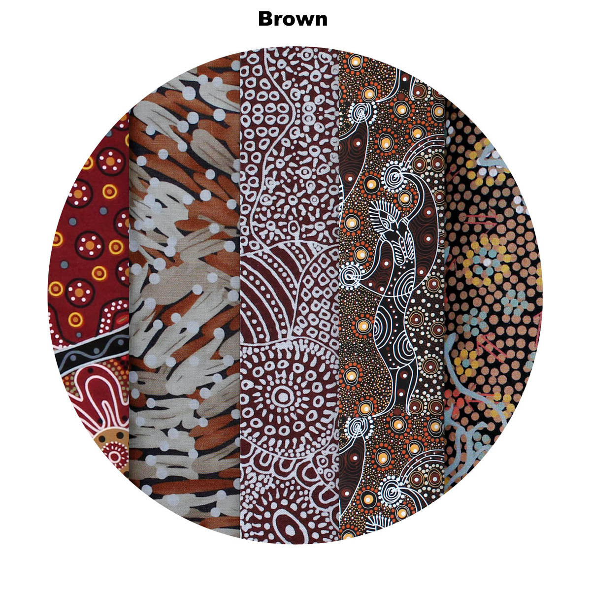 "JELLY ROLL - 25 Strips 2.5"" x 44"" - Australian Aboriginal Prints - Choose Colour"