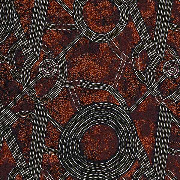 BUSH PLUM 2 RED by Aboriginal Artist GRACIE MORTON