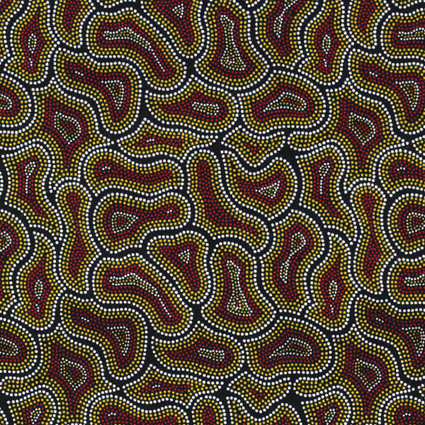BUSH SEEDS YELLOW by Aboriginal Artist CINDY WALLACE