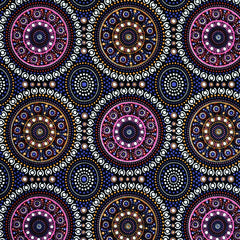 BUSH BERRY PURPLE by Aboriginal Artist MARLENE DOOLAN