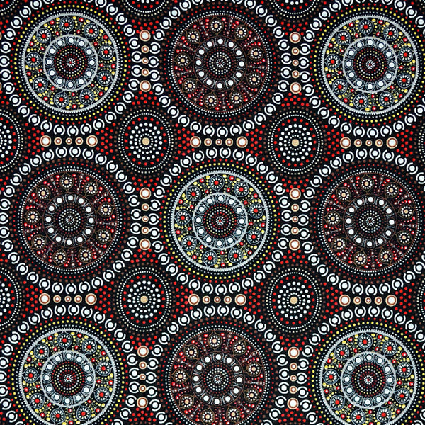 BUSH BERRY RED by Aboriginal Artist MARLENE DOOLAN