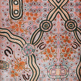 BUSH FOOD ECRU by Aboriginal Artist CINDY WALLACE