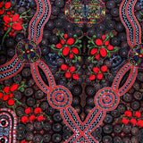 BUSH FOOD RED by Aboriginal Artist CINDY WALLACE