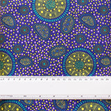 BUSH ONIONS & WILD FLOWERS PURPLE by Aboriginal Artist JANE DOOLAN