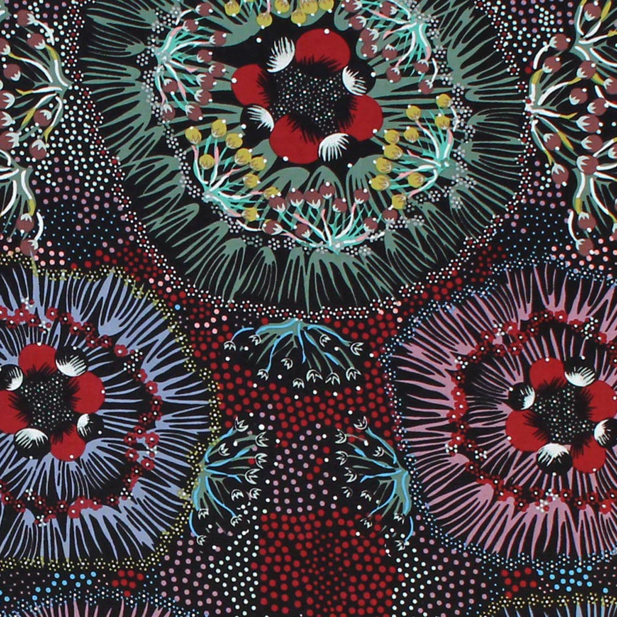 BUSH PLUM BLACK by Australian Aboriginal Artist Polly Naparulla Wheeler