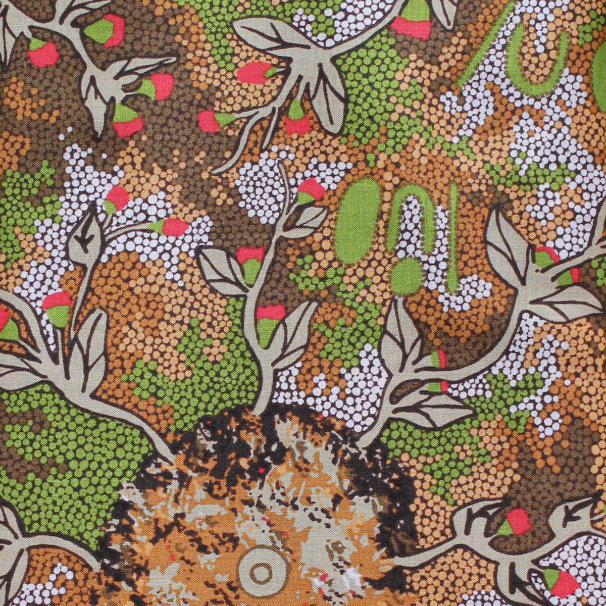 BUSH SWEET POTATO GREEN by Aboriginal Artist AUDREY MARTIN NAPANANGKA
