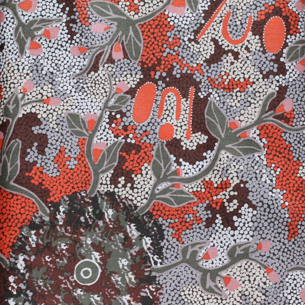 BUSH SWEET POTATO GREY by Aboriginal Artist AUDREY MARTIN NAPANANGKA