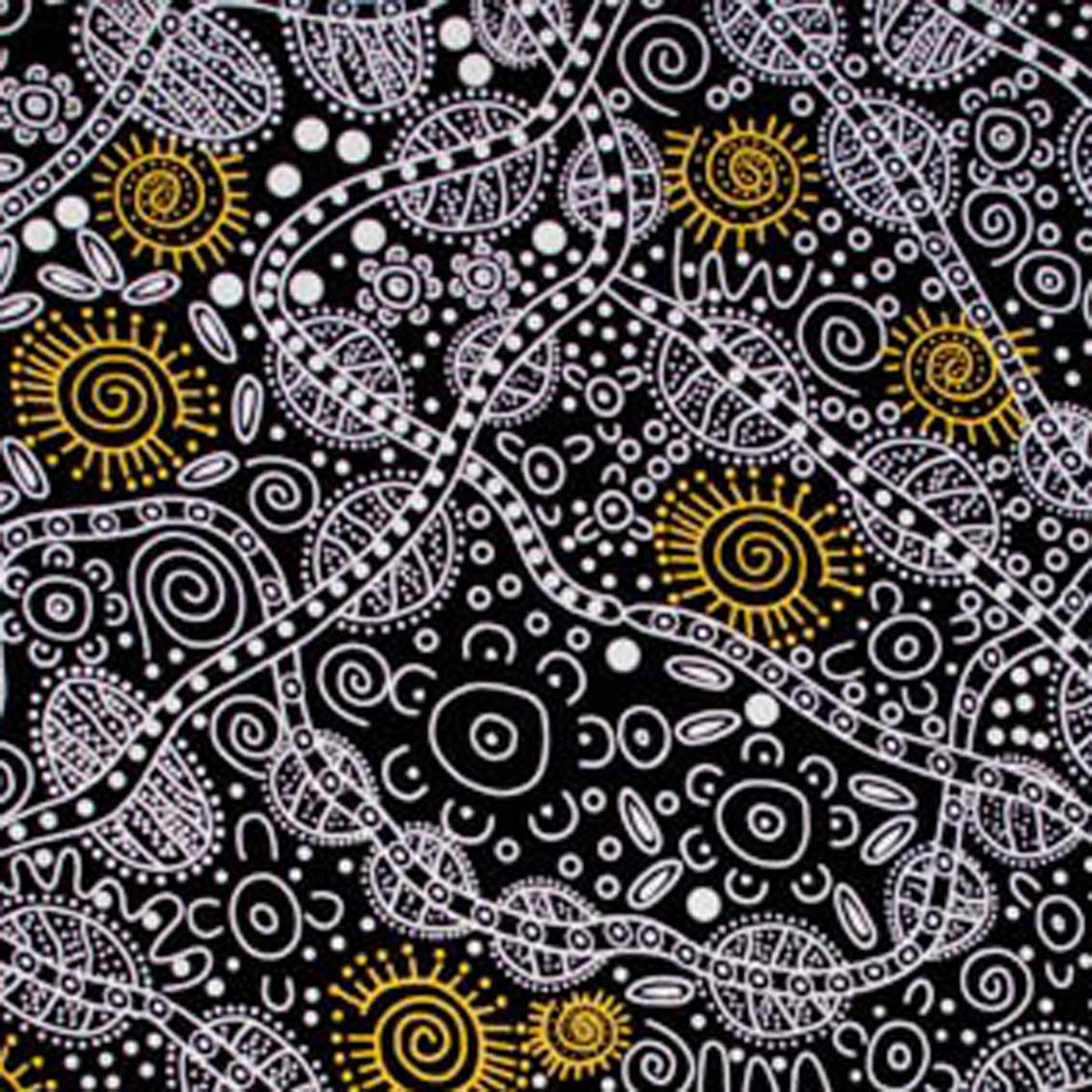 BUSH TUCKER BLACK by Aboriginal Artist JUNE SMITH