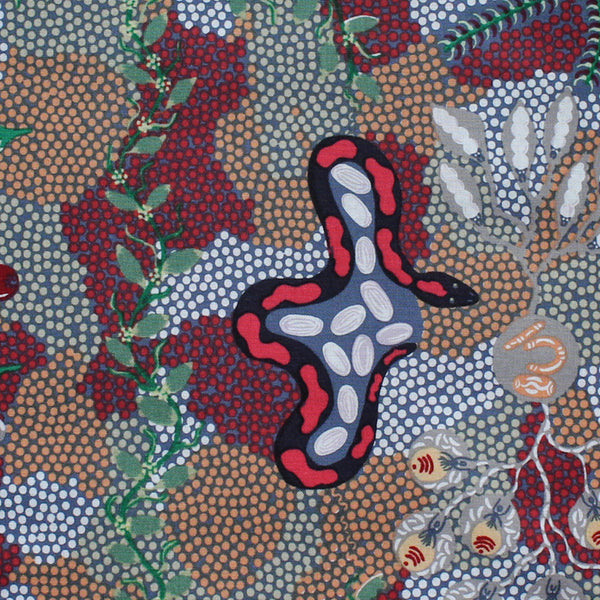 BUSH TUCKER DREAMING GREY by Aboriginal Artist AUDREY NAPANANGKA