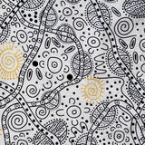 BUSH TUCKER WHITE by Aboriginal Artist JUNE SMITH